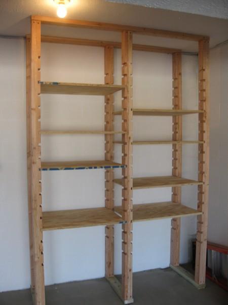 Adjustable Garage Shelves